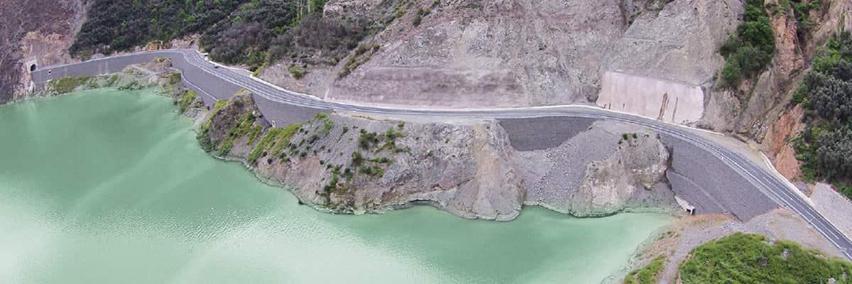 Artvin Barajı Terramesh Sistem İstinat Duvarı Uygulaması