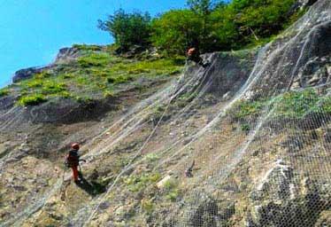 Trabzon Aşkale Yolu İkmal Projesi Kaya Taş Düşmelerine Karşı Koruma Ağı