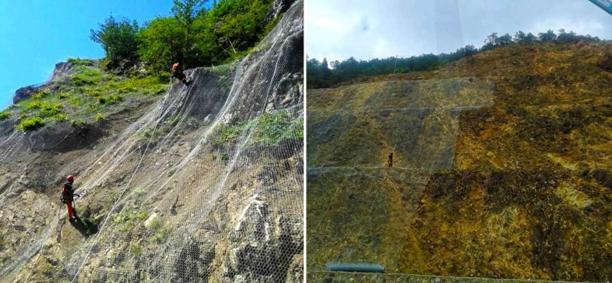 Trabzon Aşkale Yolu İkmal Projesi Kaya Taş Düşmelerine Karşı Koruma