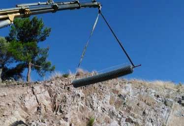 KGM 14 Bölge Müd Şube Sınırlarındaki Yol Kesimlerinde Kaya Düşmesi Uygulaması